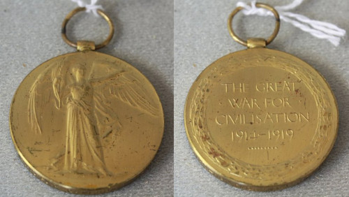 victory medal front and back wwi