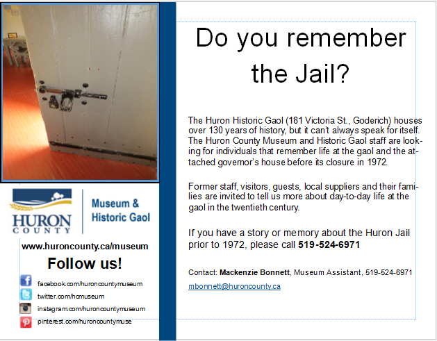 Unlocking Memories of the Huron Jail