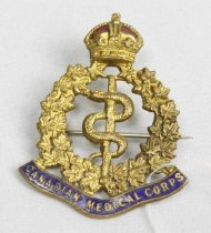 Canadian Medical Corps military badge
