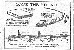 World War I propaganda poster from the Huron County Museum's digitized newspaper database