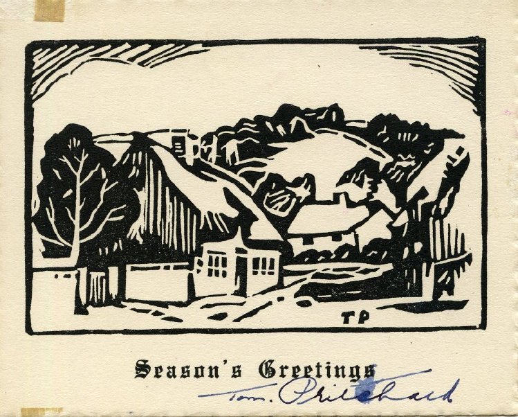 Christmas notecard from artist Tom Pritchard