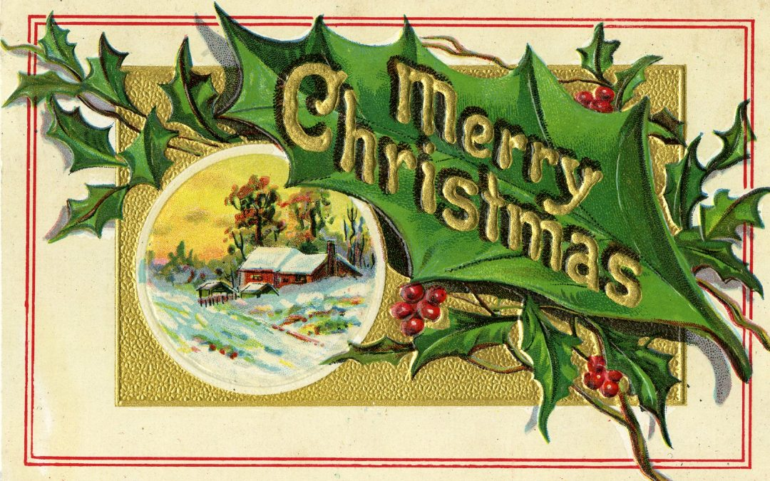 Christmas card from the Huron County Museum collection