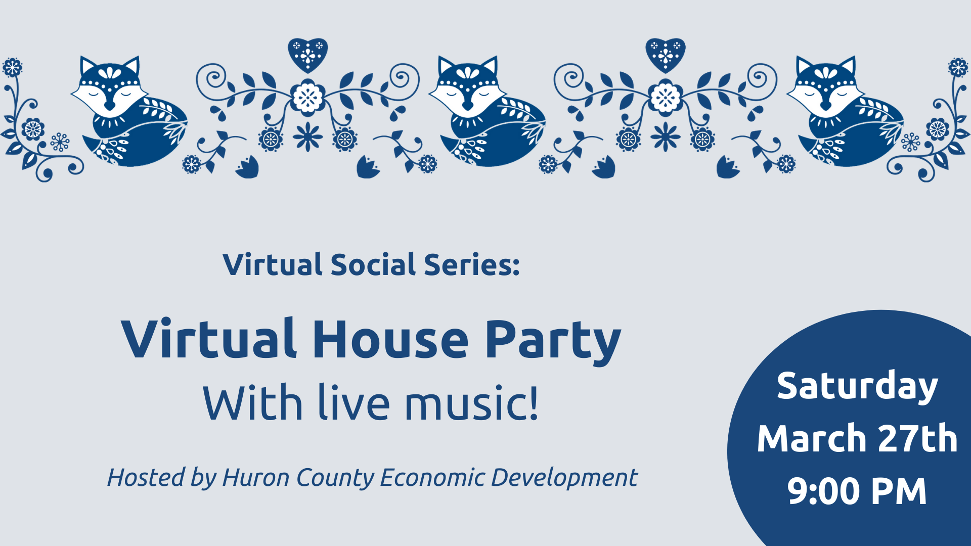 Virtual House Party with Live Music
