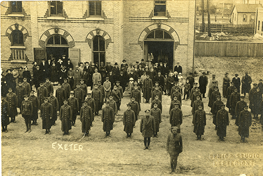 First World War troops in Exeter, Ontario