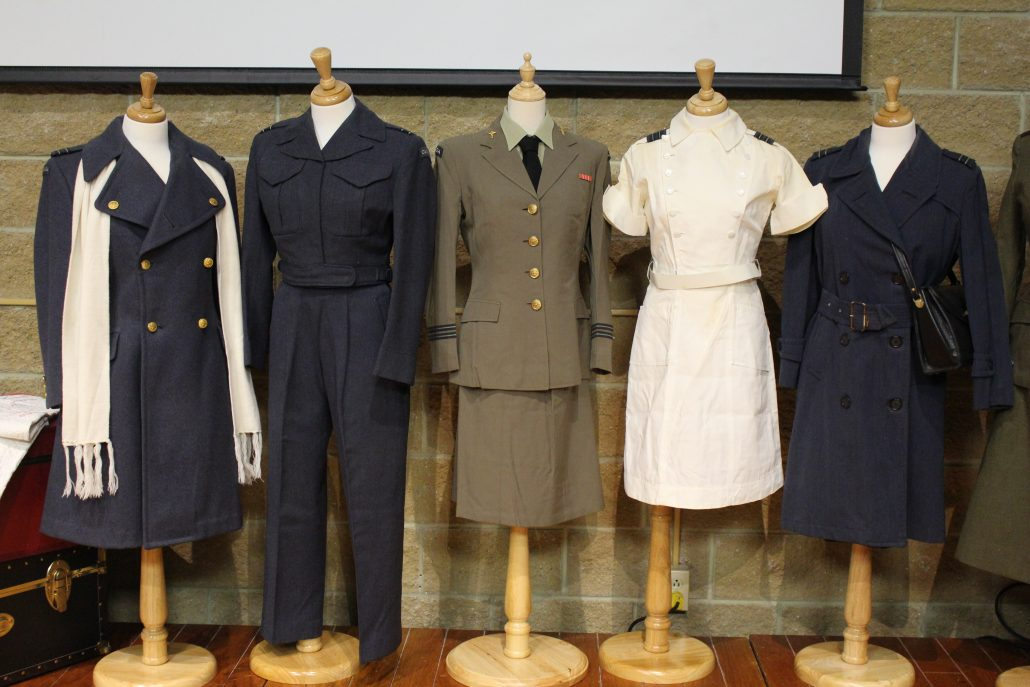 Image of uniforms deaccessioned from the Museum collection