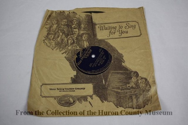 Image of record sleeve advertising the Victor Talking Machine Company of Canada Limited