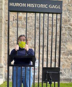 Huron Historic Gaol selfie station