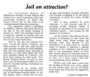 Editorial about saving the Gaol