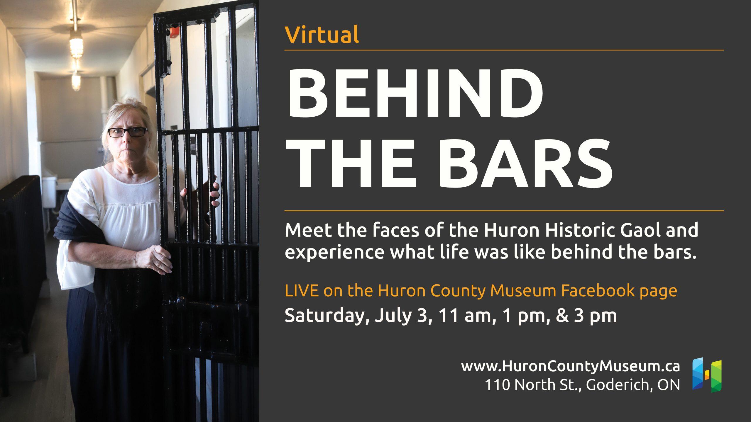 Huron Historic Gaol Behind The Bars