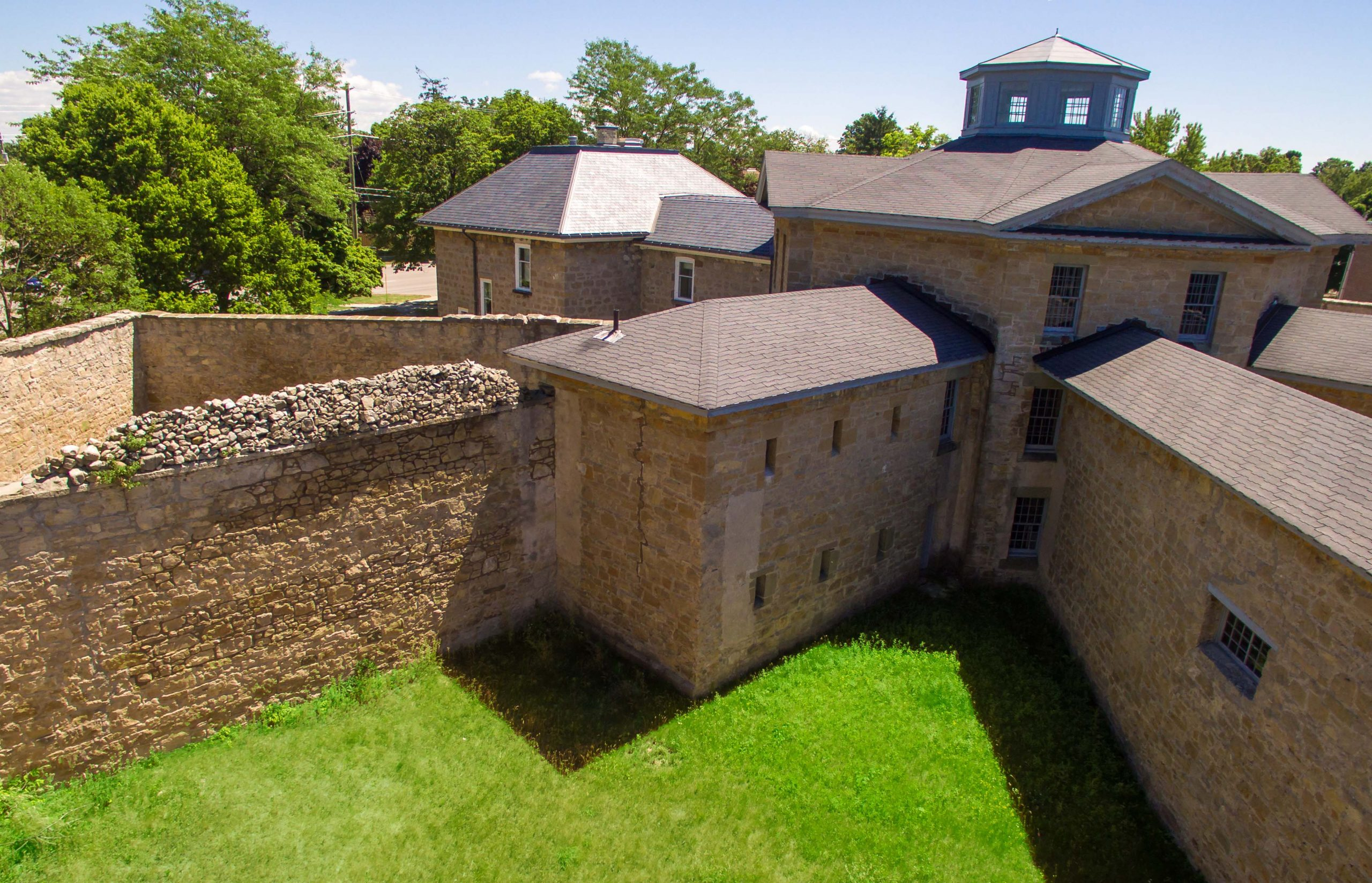 Aerial view of the Huron Historic Gaol