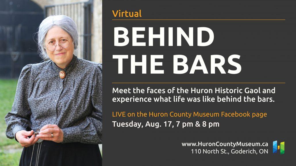 Huron Historic Gaol Virtual Behind the Bars