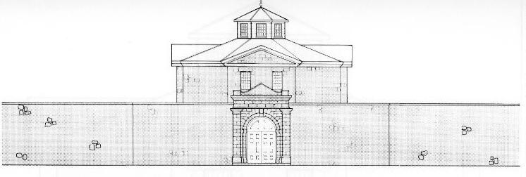 Huron Historic Gaol architect drawing