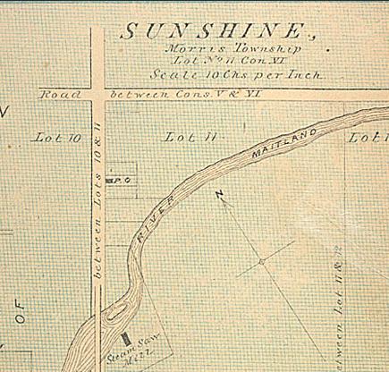 Historic map of Sunshine